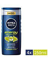 NIVEA Men 4er Pack Duschgel für Körper, Gesicht, Haare 4 x 250 ml …   – Beauty