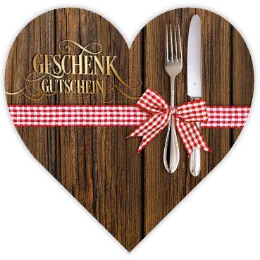 Herzgutschein G450 - Gutschein für die Gastronomie