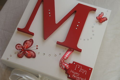 Girls Boys Personalised Keepsake Memory Box- Red - BIRTHDAY CHRISTENING BABY |