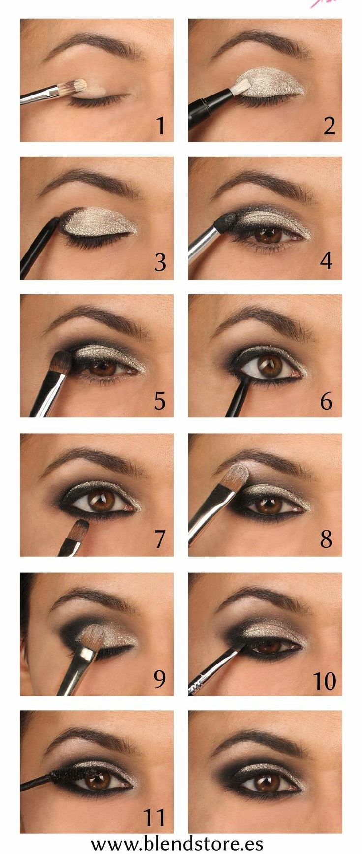 Sigue estos 12 pasos para lograr un smokey eye profesional.