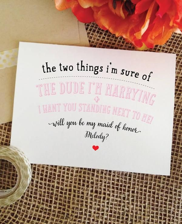Light Pink Funny bridesmaid card - Personalized will you be my maid of honor cards. Will you be my bridesmaid cards. TWO THINGS - cute Bridesmaid Proposal Ideas