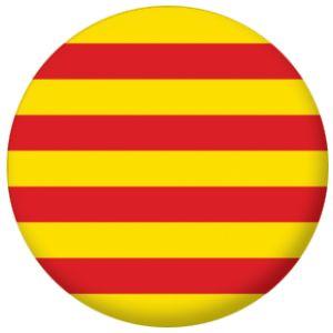 Catalonia Flag 25mm Pin Button Badge.