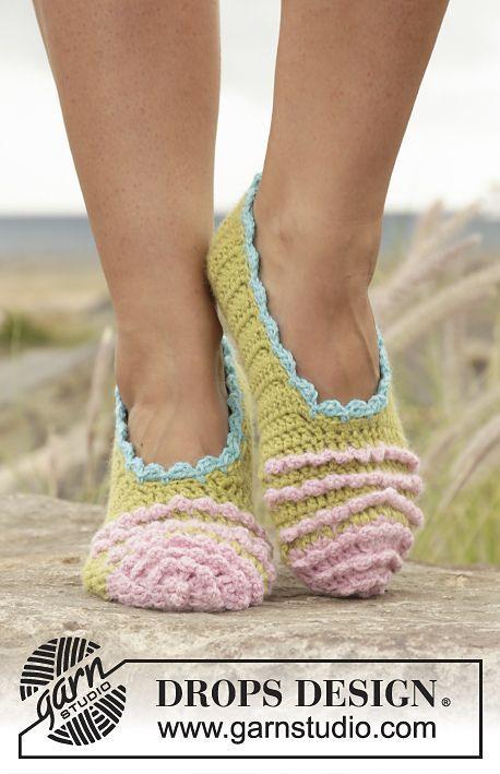 Irina Ballerina Slippers By Drops Design Free Crochet Pattern