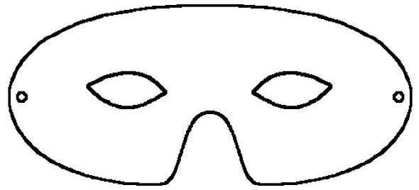 phantom of the opera mask template