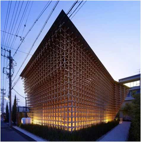 Wood Structure Museum by Kengo Kuma