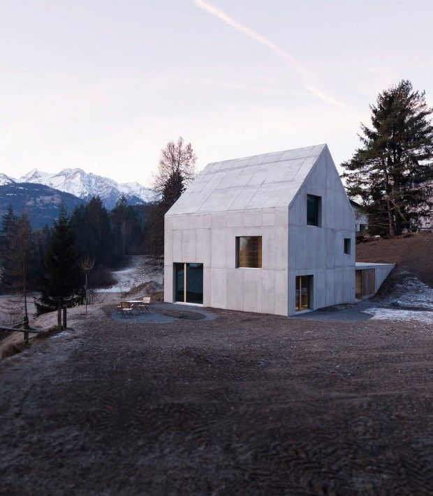 Chalet contemporain en Suisse par Schneller Caminada Architects - Journal du Design