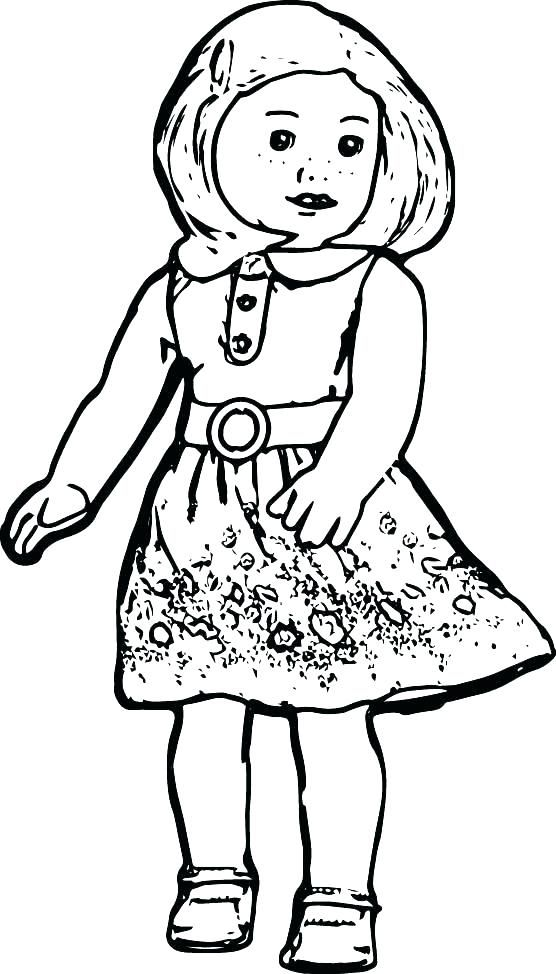 American Girl Coloring Pages Printable Girl Coloring Pages Girl ...