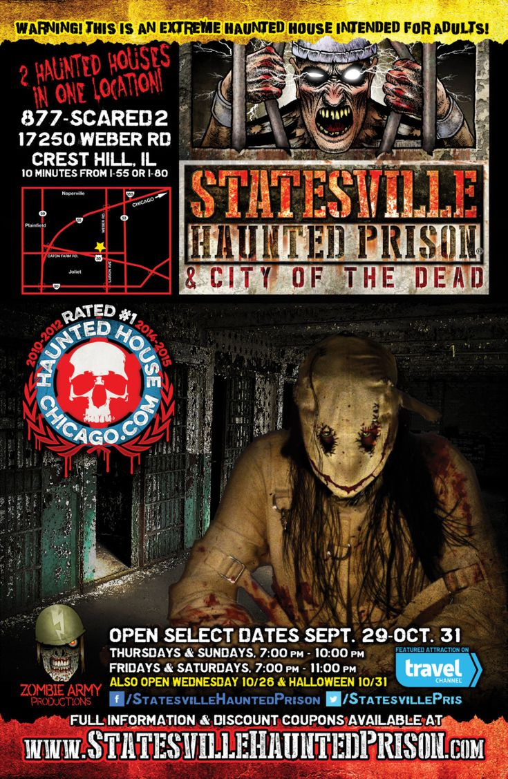 Statesville Haunted Prison and City of the Dead Opens September 29th, 2016 - http://www.goldenstatehaunts.org/2016/09/21/statesville-haunted-prison-and-city-of-the-dead-opens-september-29th-2016/