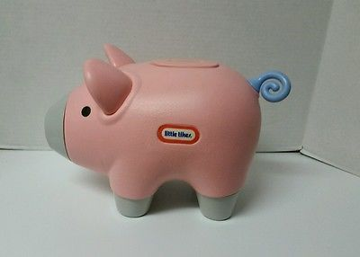 Little Tikes Classic Large Pink Pig Piggy Bank With Logo #2