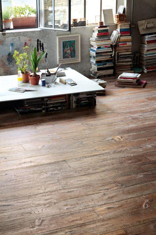 Parquet Listone Giordano doc mareggiata Amalfi 1266_Rovere #woodfloor #design #wood #parquet #handcrafted #pavimenti http://www.listonegiordano.com/italia/lg_atelier.php
