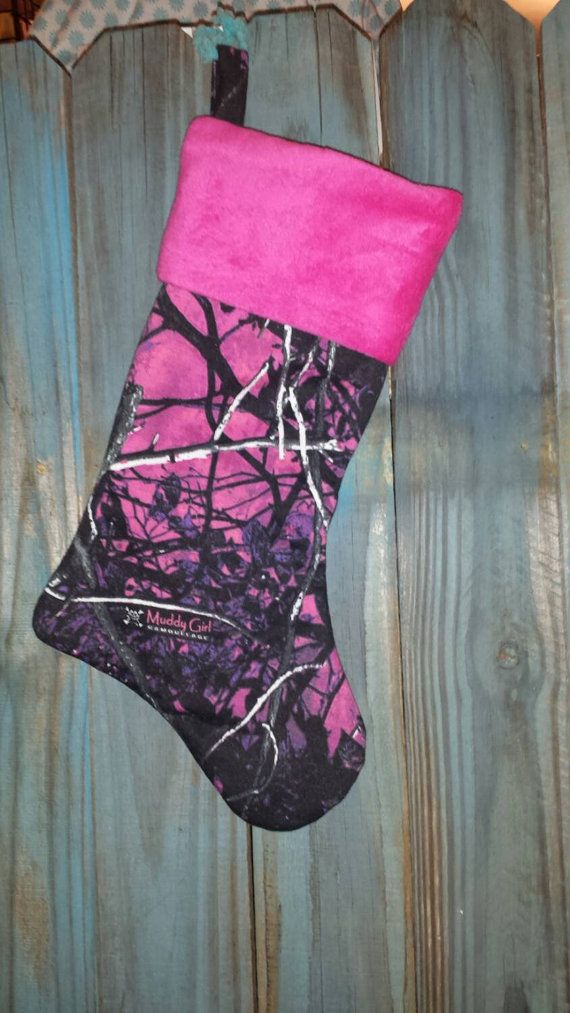 Muddy girl camo stocking by SincerelyYourCreate on Etsy