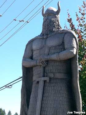"""12-Foot-Tall Concrete Viking"" (Poulsbo, Washington)."