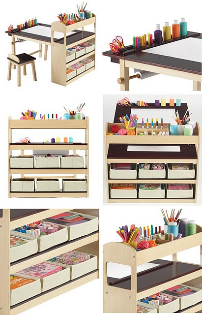 Here's something that can double as Art Center and/or a Homework Station for kids.   #CraftRoom #Organize #Tips