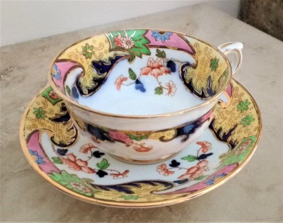 Royal Stafford tea cup oriental floral tea cup by SumertaDesigns