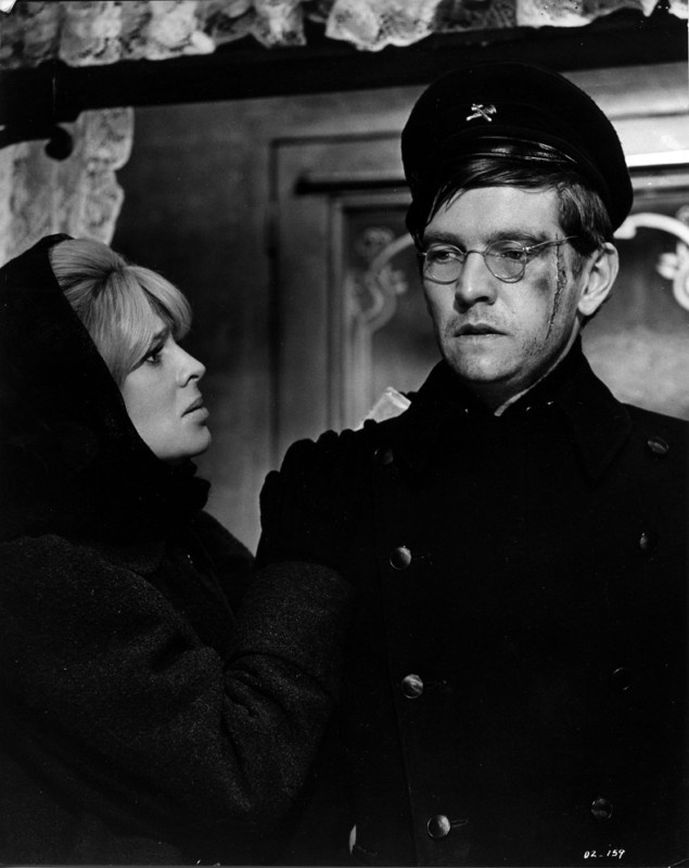 Tom Courtenay and Julie Christie in Dr. Zhivago