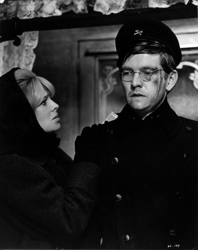 Tom Courtenay and Julie Christie in Dr. Zhivago