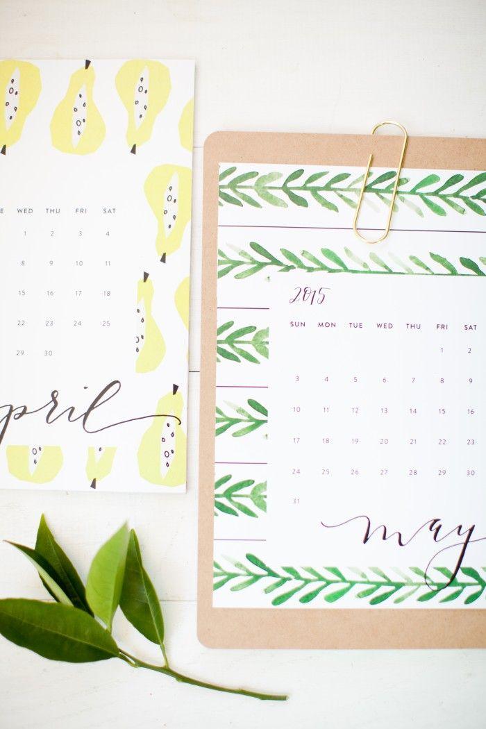 2015 Calendar free printable