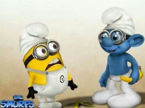 Minions & Smurfs <3