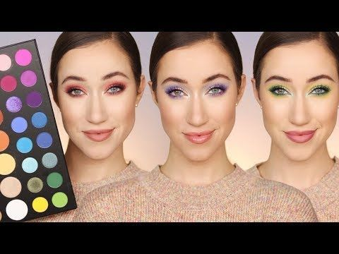 3 Tutorials | James Charles x Morphe Palette 😍 - YouTube | Make up