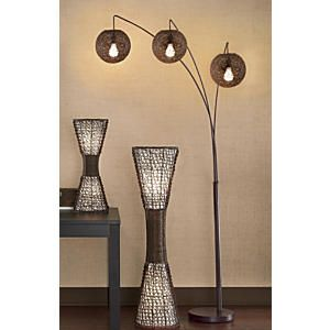 3 Arm Wicker Arc Lamp From Midnight Velvet 174 Lw47233
