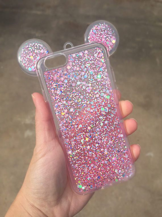 Mickey glitter iPhone 6/6s case Disney iPhone by bellaglamshop