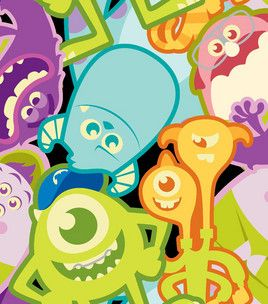 112 best images about monsters inc on pinterest disney for Monster themed fabric