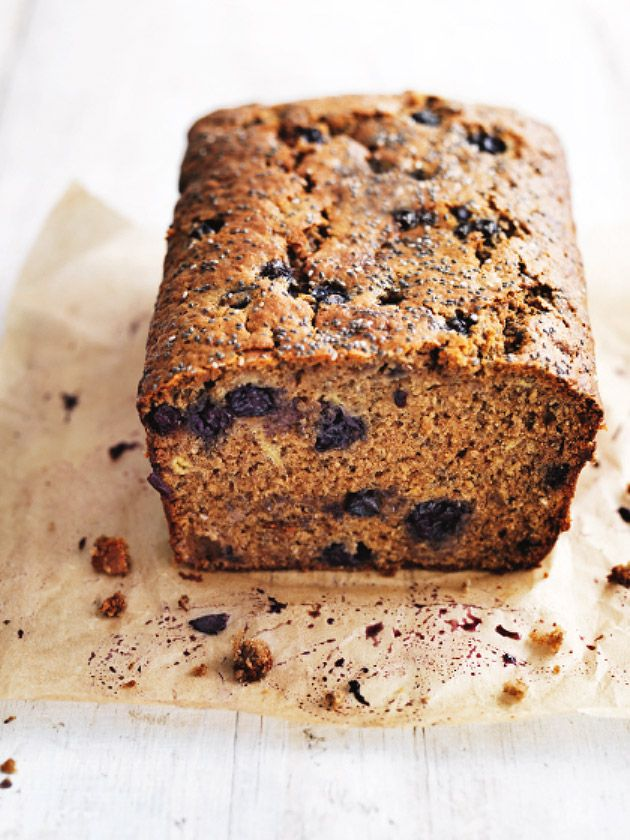 banana, chia and blueberry loaf
