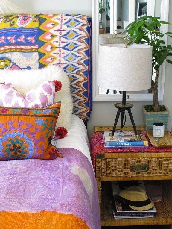 Mezcla de colores en las tapicerías.