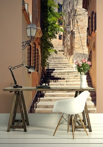 Schody, Tarragona, Hiszpania - fototapeta - 115x175 cm  Gdzie kupić? www.eplakaty.pl