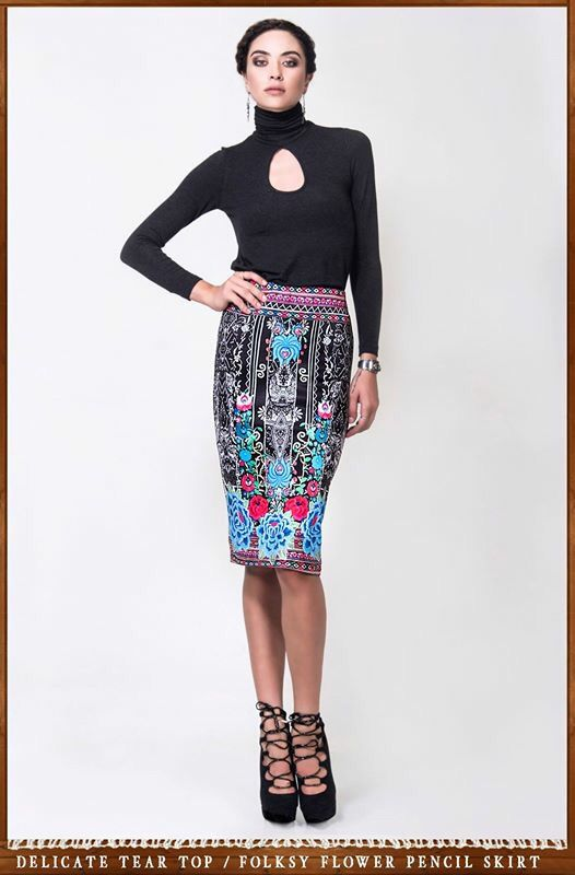 New arrival pencil skirt Peace and Chaos .
