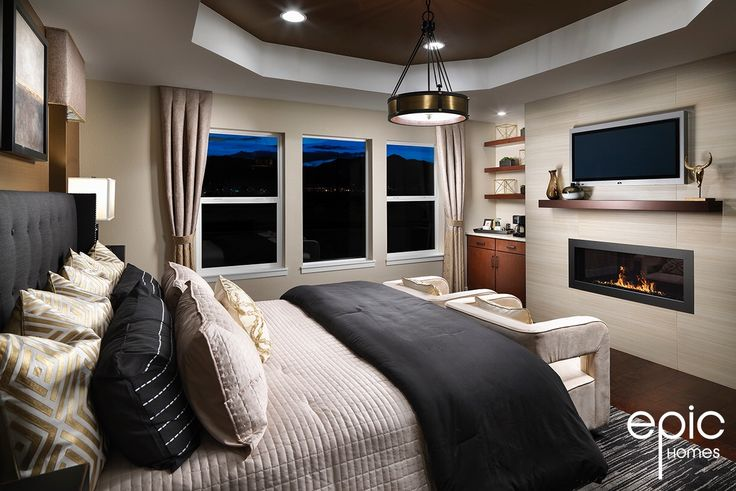 Summit Model Master Bedroom - 3498 Sq ft Model  - Epic Homes, Leyden Rock, Arvada Colorado