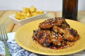 Cuuking!: Alitas de pollo al horno con miel y soja