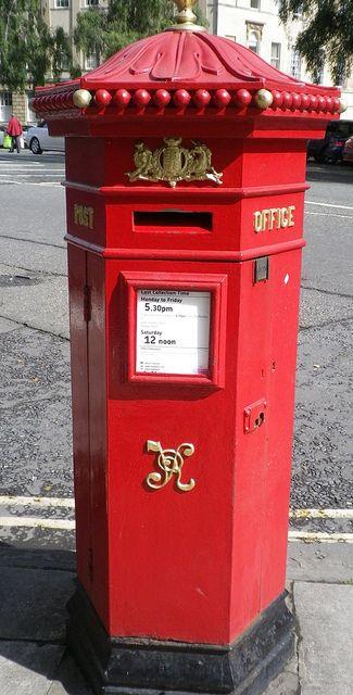 Great Poultney Street, Bath. British Post Box. London, England