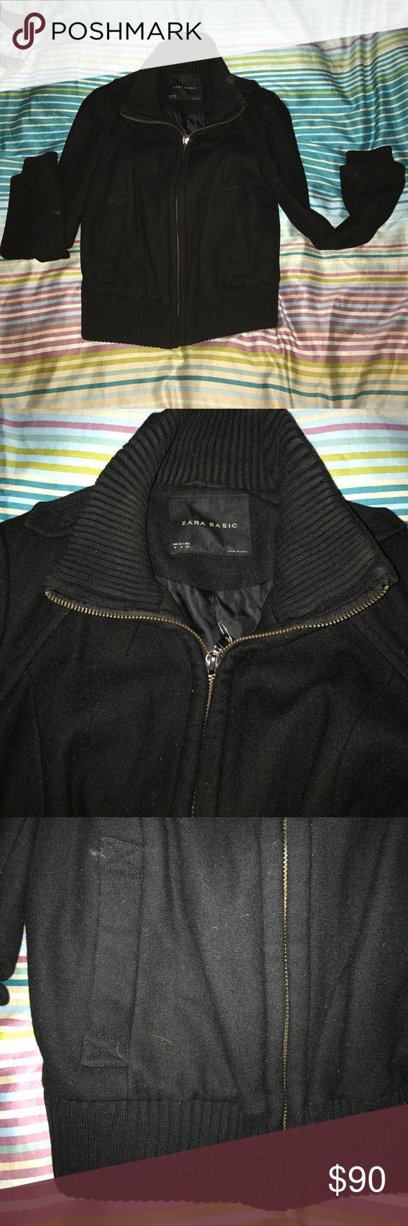 NWOT Zara Bomber Jacket Super cuteZara Basic  black bomber jacket. Only worn once or twice. Zara Jackets & Coats