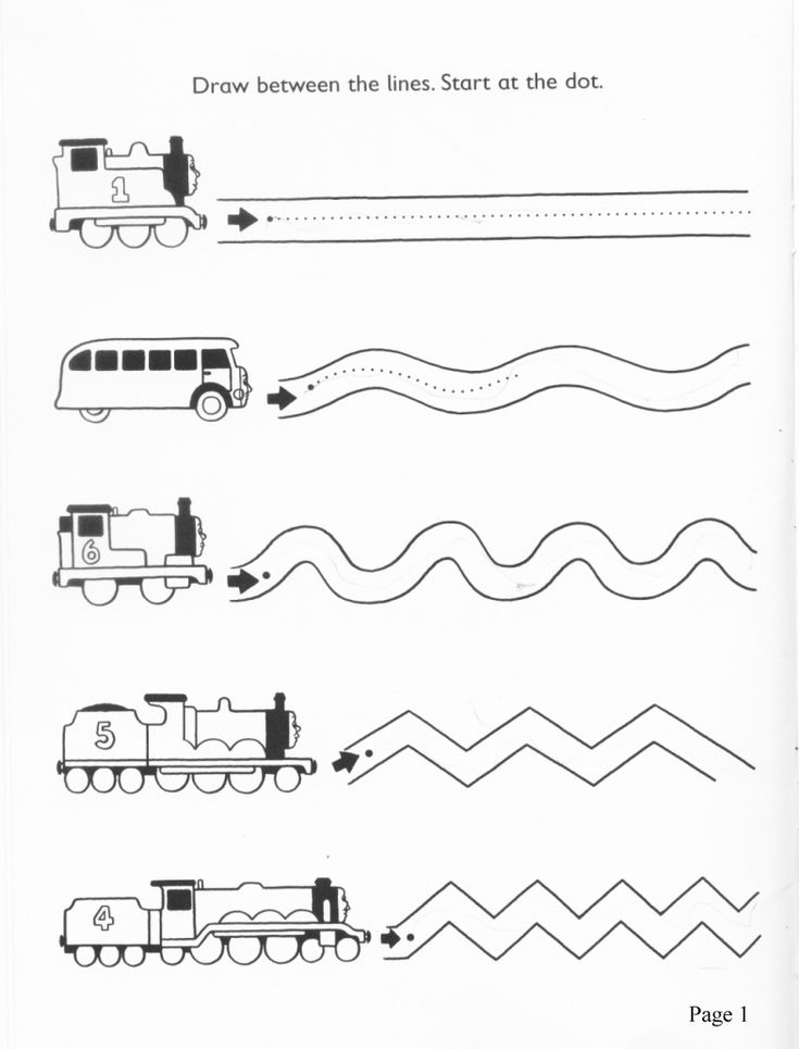 Thomas the Tank line tracing (but photocopied from a book)