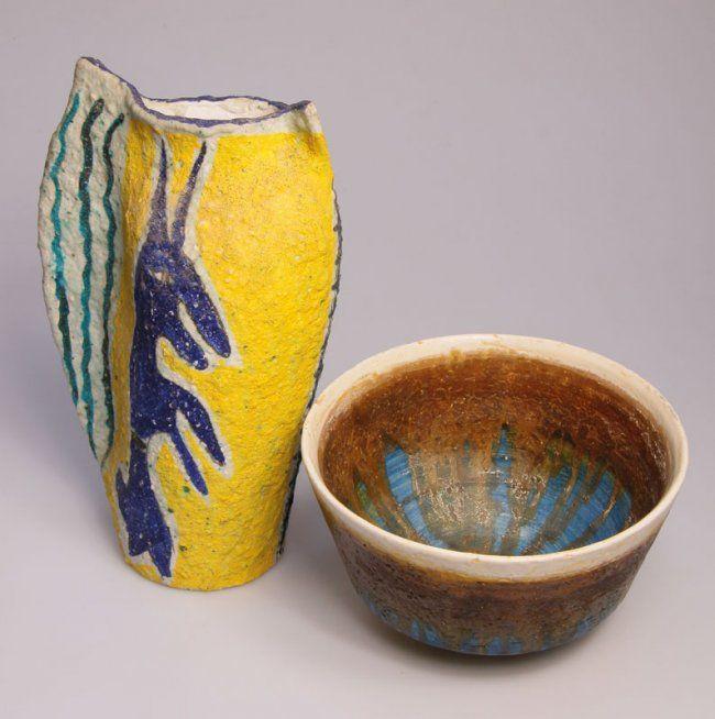 Schale Fantoni und Vase Procida