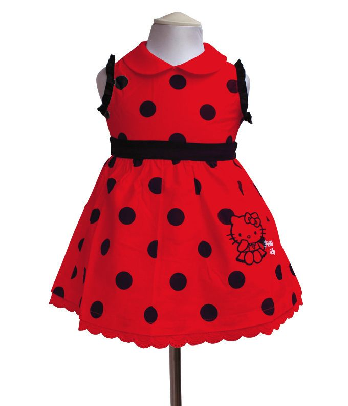 Retial 2013 olá kitty meninas tutu 2~8years vestidos da menina de verão dot vestido de desgaste dos miúdos