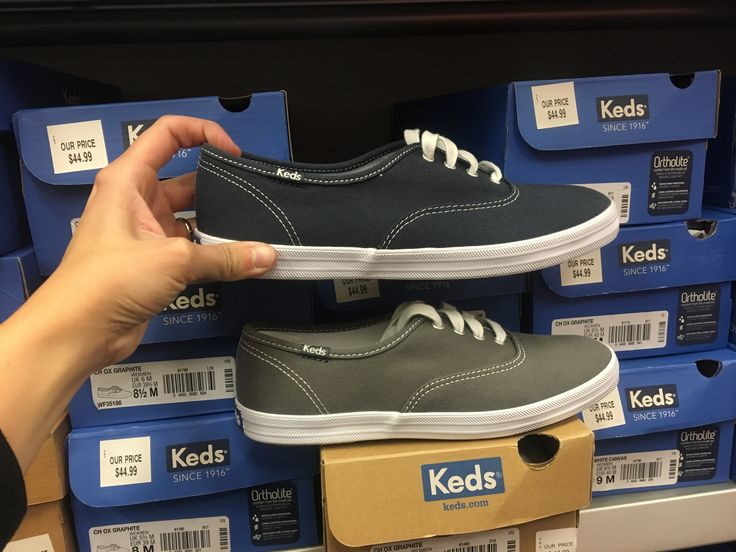 7  1/2 grey or navy keds from shoe carnival   Ortholite