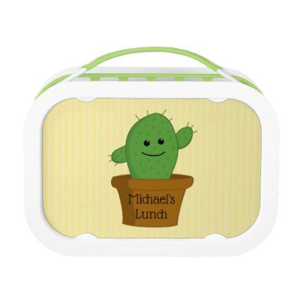 Cactus Personalized Lunch Box - home gifts ideas decor special unique custom individual customized individualized