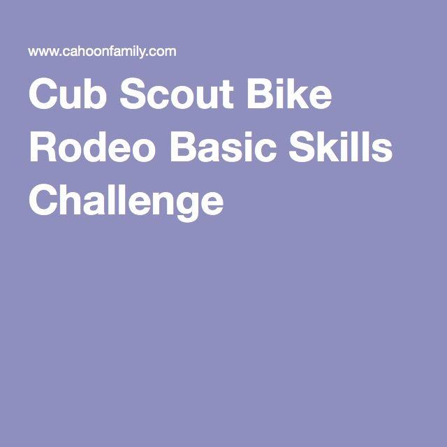 Cub Scout Bike Rodeo Basic Skills Challenge
