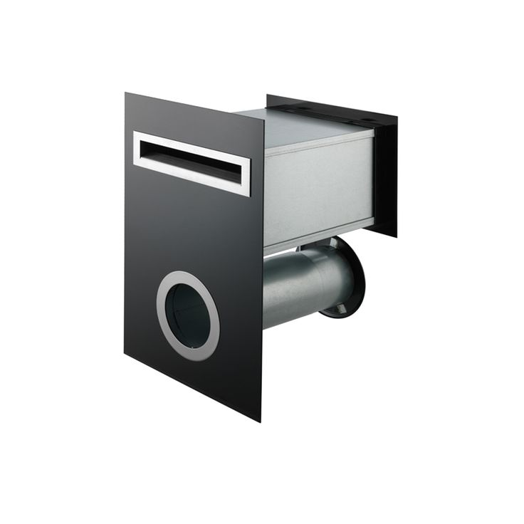 Sandleford Black Frontier Front And Back Letterbox With Newspaper Sleeve