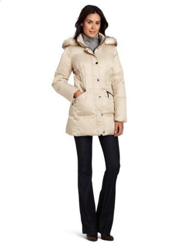 Hilary Radley Women's Long Zip Front Down Jacket With Snap Placket And Faux Fur Trim Hilary Radley. $104.50. Long. 100% Polyester. Machine Wash. Made in China. Down