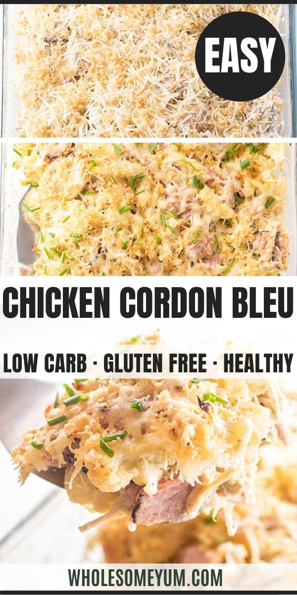 Easy Keto Low Carb Chicken Cordon Bleu Casserole Recipe This Easy