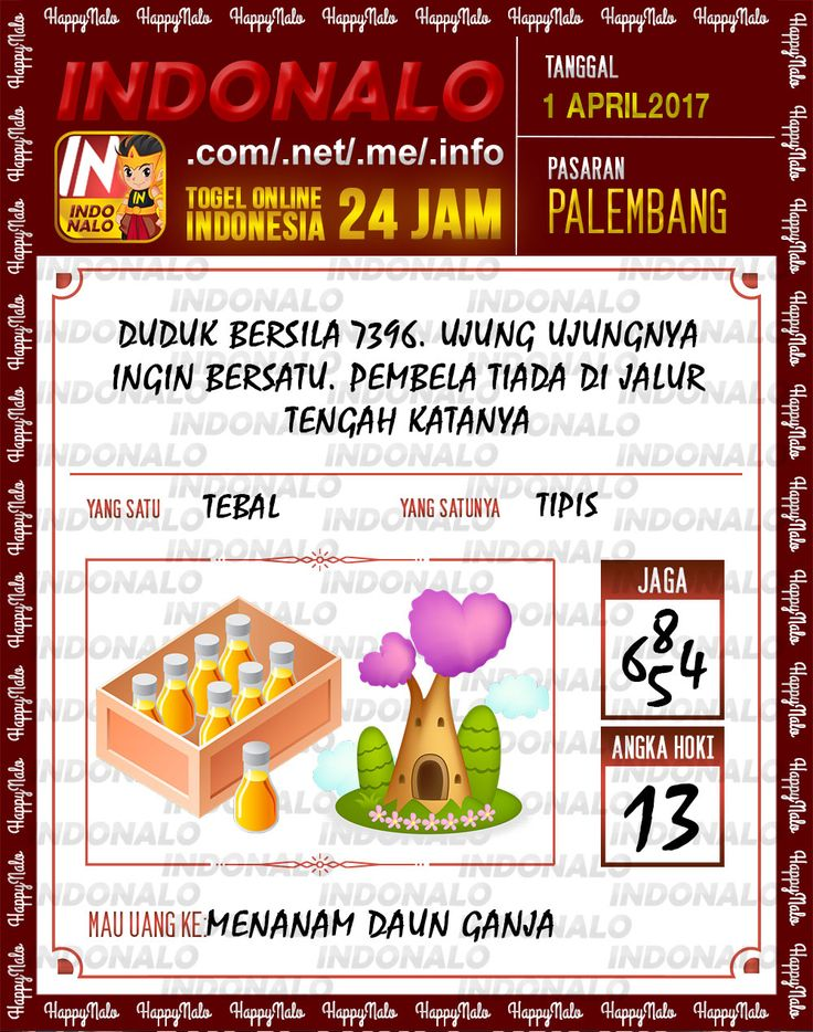 Angka JP 4D Togel Wap Online Indonalo Palembang 1 April 2017