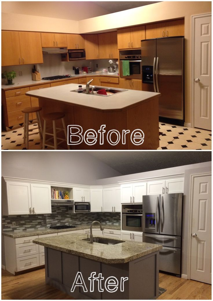 Our Kitchen Before After: KITCHEN REMODEL: Before And After Of Our Kitchen. New
