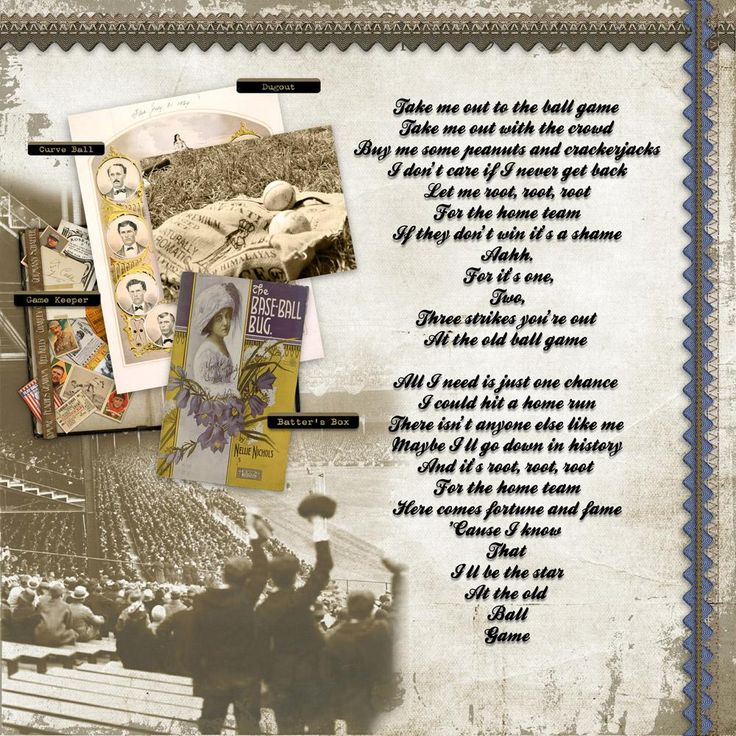 Digital Scrapbooking Kit: For Love of the Game - Romantic Attic Designs  For Love of the Game is a digital scrapbook kit themed on the early 20th Century glory days of baseball. Comprised of incredible vintage images of famous players, ballparks and ephemera - it is the perfect backdrop for documenting your family's baseball lovers!  https://www.digitalscrapbookingstudio.com/digital-art/kits/for-love-of-the-game/