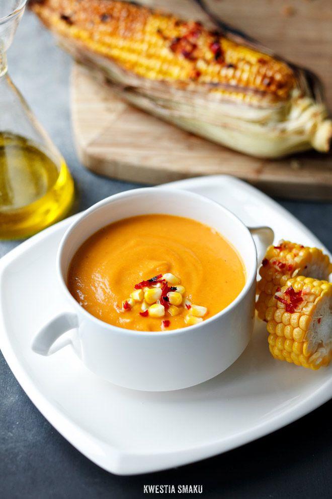 (PL) Zupa z pieczonej dyni i pieczonych pomidorów