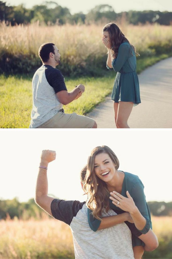 He got on one knee to propose in the middle of a photo shoot, and she said yes! This entire love story is so adorable.