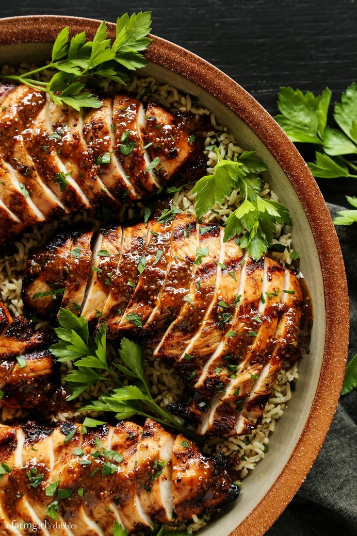 Grilled Brown Sugar and Whole Grain Mustard Turkey…