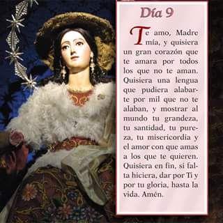 Mayo 9 Mes de nuestra Santisima Virgen Maria